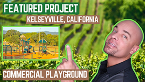 New Playground Installation in Kelseyville California